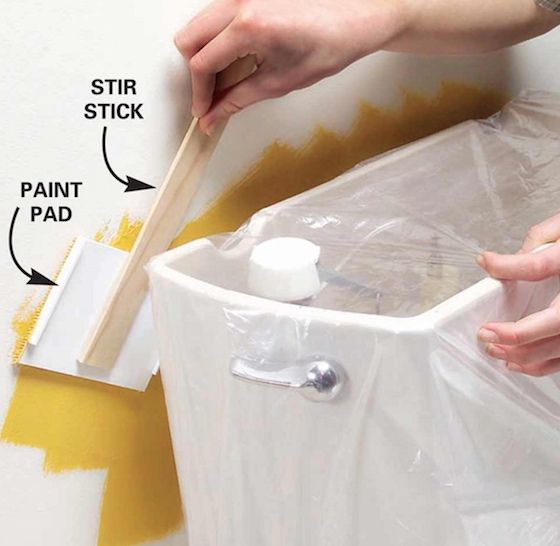 painting tips, paint edger, painting hacks, DIY, paint tight spaces