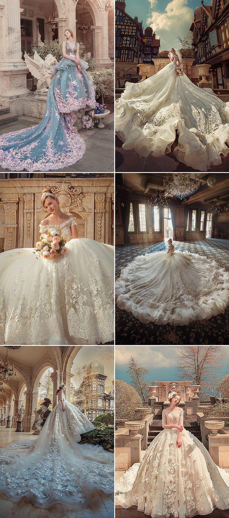 Geben Sie ein romantisches Regal-Statement ab! 28 Prinzessin-Würdige Brautkleid…