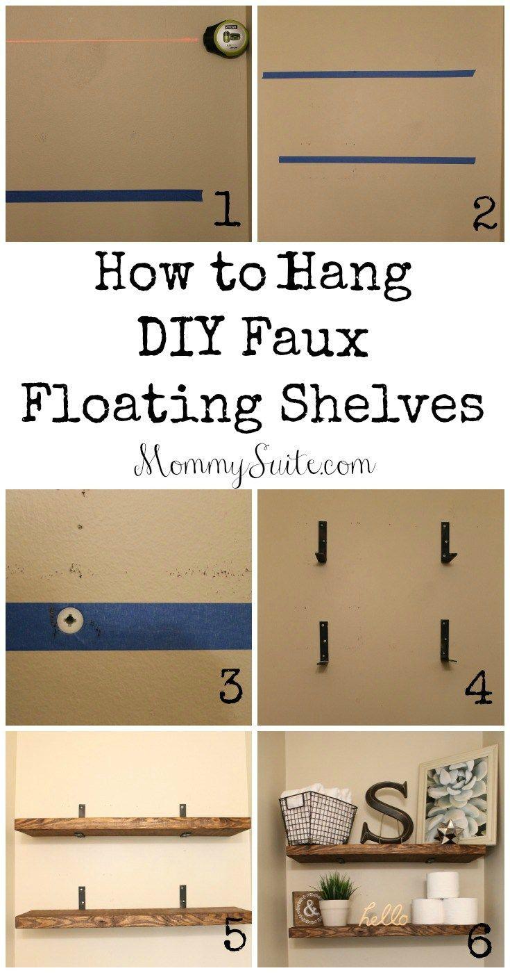 DIY Faux Floating Shelves