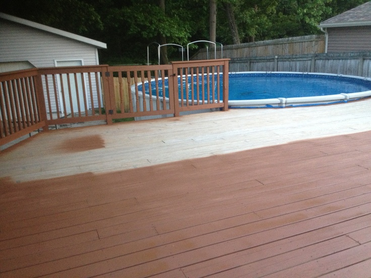 Cabot brand chestnut brown stain for our new deck you may have to click on blank picture to for Cabot s exterior stain colours
