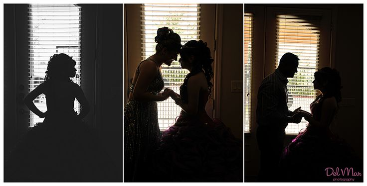 We <3 this Quinceañera photo idea using silhouettes of Mis Quince and parents.  Photo Credit: Del Mar Photography Blog #Quinceaneraphotoidea  #Quinceanera
