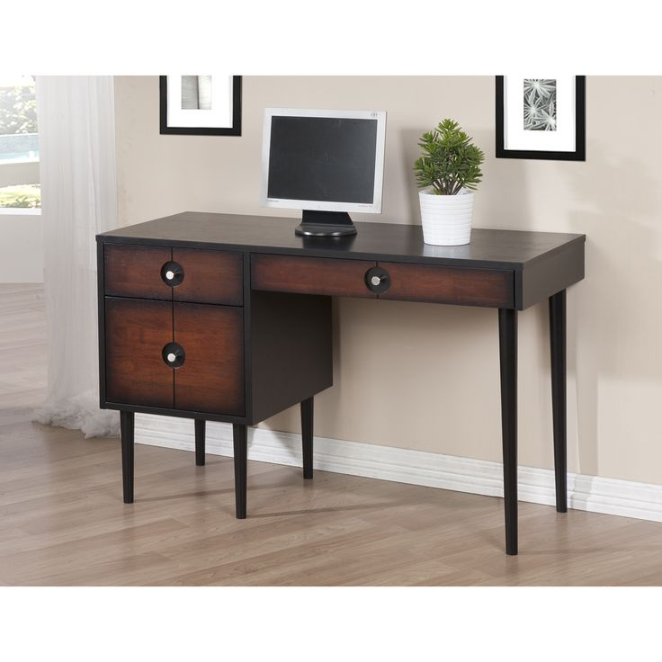 Lovely Techni Mobili Super Storage Computer Desk, Espresso