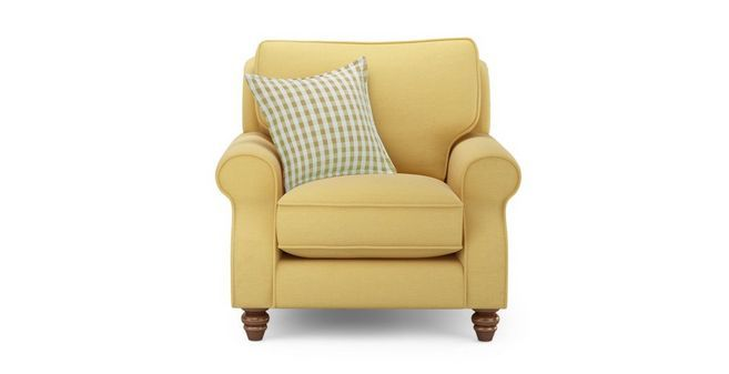 Ellie Plain Armchair with Check Scatter Cushion  Ellie Plain | DFS Ireland