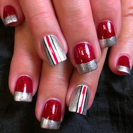 Ohio State Buckeye nails