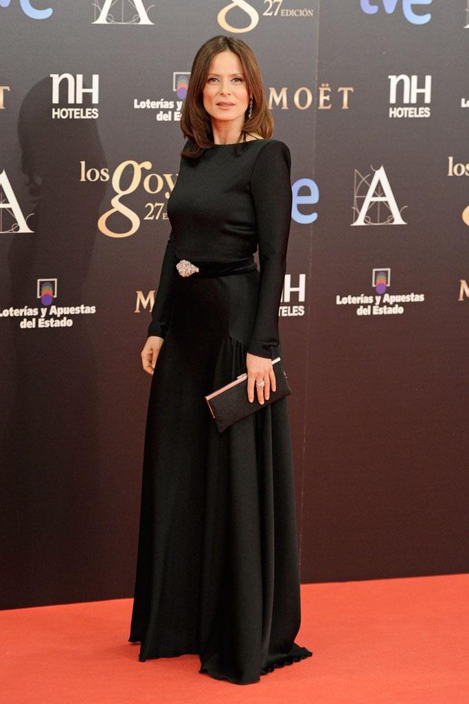 Aitana Sánchez Gijón Premios Goya. Vestido: Lorenzo Caprile