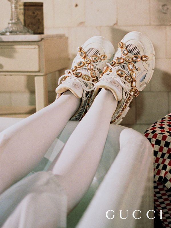 e04566eec Flashtrek sneaker with removable crystals in 2019 | Fashion! Euphoria |  Gucci 2018, Gucci shoes, Sneakers