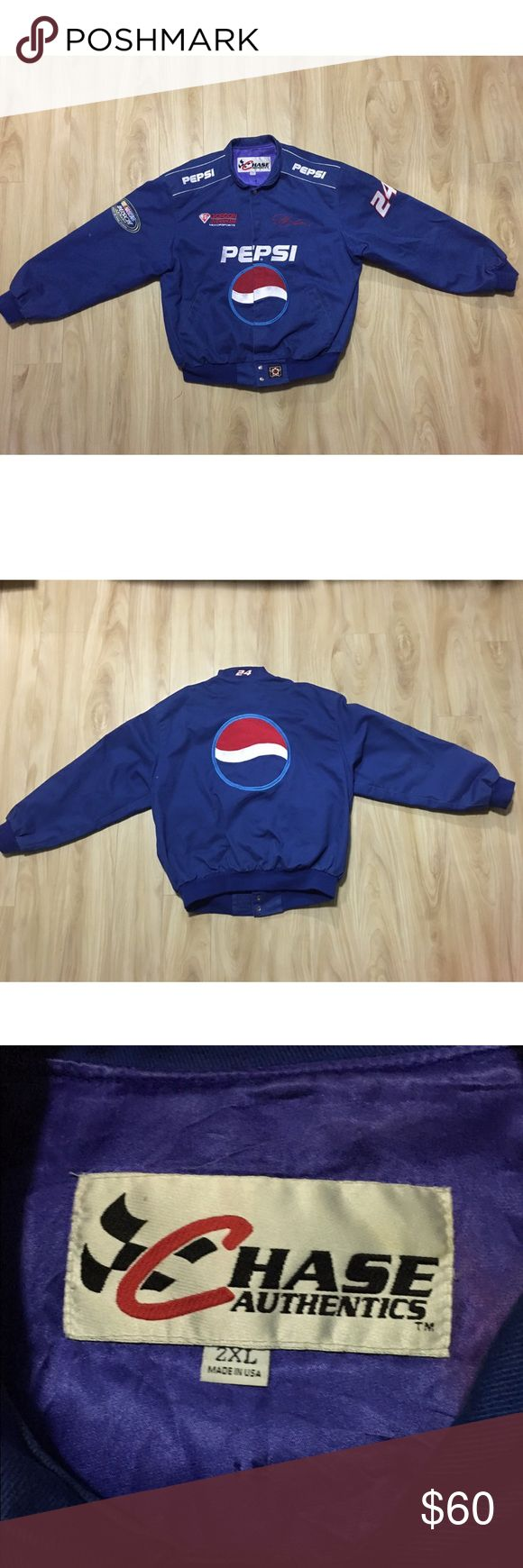Chase Pepsi NASCAR jacket Sz 2xl Jacket is used in good condition, no rips or tears, does show normal signs of wear, nothing bad, comes from smoke free pet free home. Don't miss out on this great deal chase  Jackets & Coats