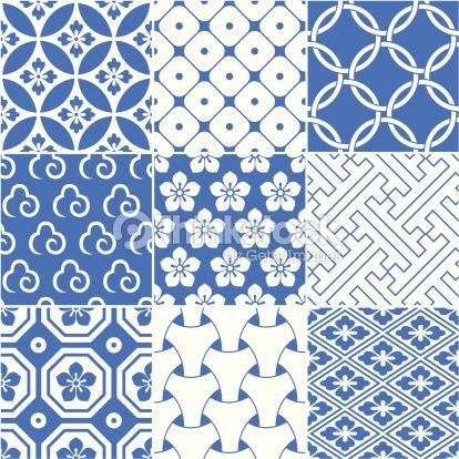 Arte vetorial : vintage japanese traditional pattern