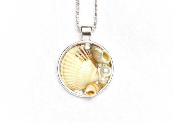 Beach shells pendant beach jewelry ocean inspired by LonasART