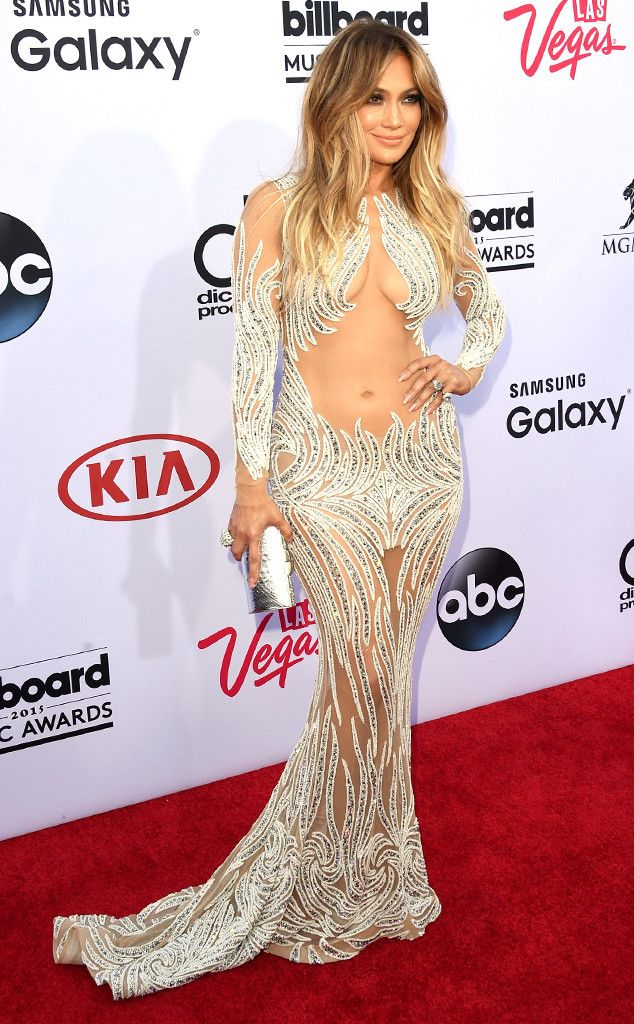 Jennifer Lopez Shuts Down the 2015 Billboard Music Awards Red Carpet in Sexy Sheer Gown?See the Pic! | E! Online Mobile