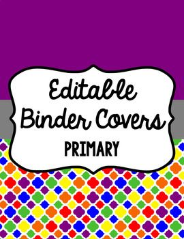 Keep yourself organized and fancy with these binder covers. There are 13 different designs (listed below) with six different frames (designs) for each color included. Spines are also included (1 inch, 1.5 inch, 2 inch, and 3 inch) for each color. Included are instructions for