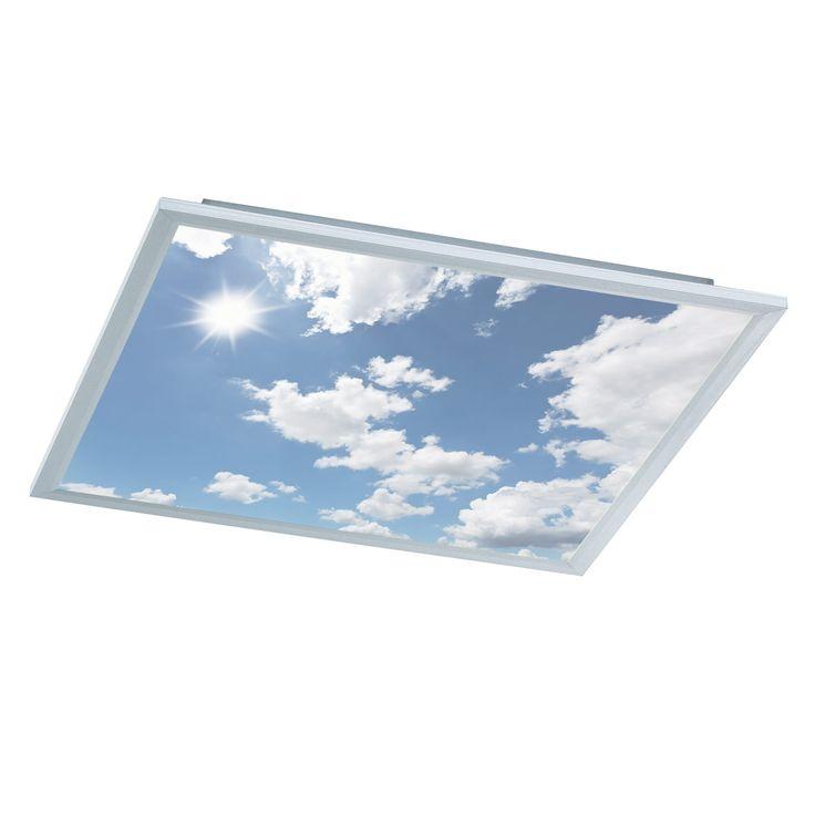 Deckenleuchte Serie LIV Farbe Silber 1x LED 44 Watt Lumen