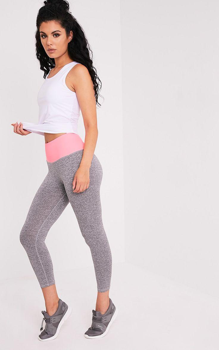 Brooke Neon Pink Cropped Gym Leggings