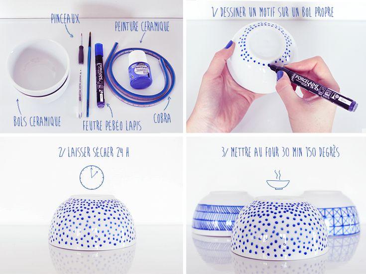 Personnaliser sa vaisselle simplement avec un feutre porcelaine