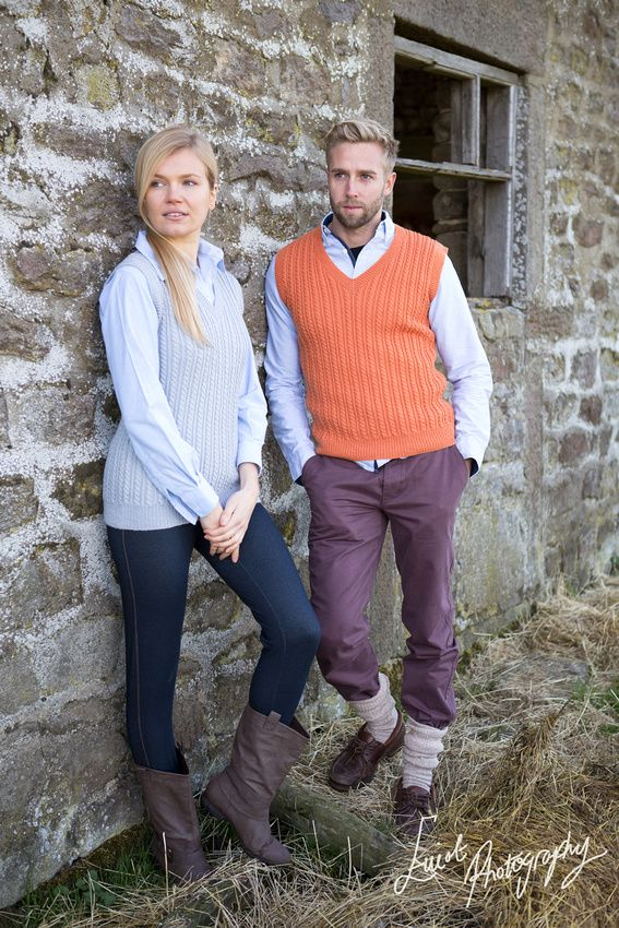 Corporate model photography knitwear TB Ramsdens