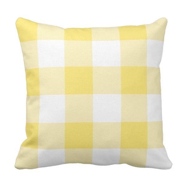 Yellow Buffalo Plaid Pillow