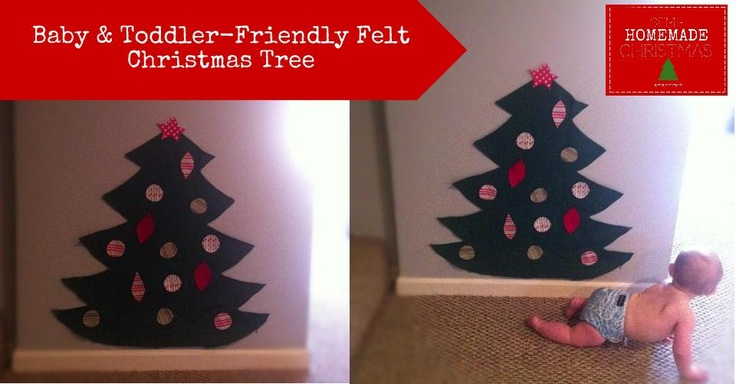 {Jenny Free Style}: Baby and Toddler-Friendly Felt Christmas Tree    No sewing...takes about 10 minutest to make! All you need is scissors!