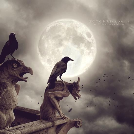 Crows on the night watch.