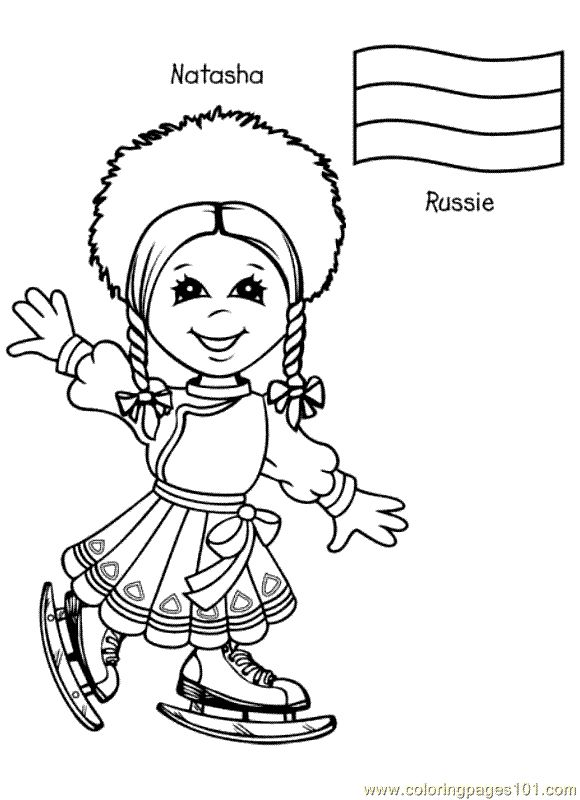 free printable coloring page Kids From Around The World 017 (Cartoons ... free printable colorin