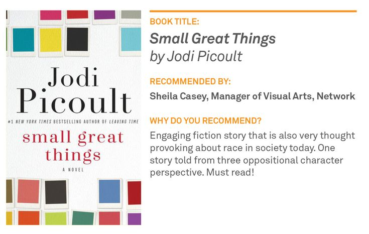 "Staff Book Pick: ""Small Great Things"" by Jodi Picoult 