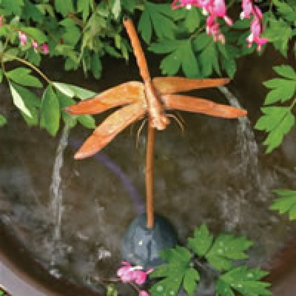 Ancient Graffiti Dragonfly Dripper And Fountain 16 X 8 X 6
