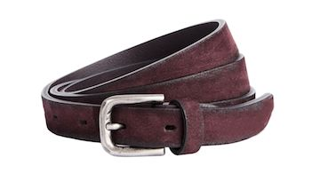 Buckles & Belts - Belt/Gürtel - New Autumn Collection 2016 - Torean - Nubuk Leather - mora - bordeaux - Design in SWITZERLAND made in ITALY https://www.facebook.com/BucklesBelts