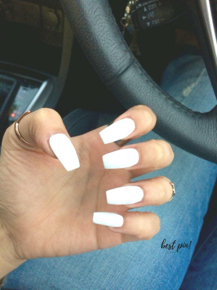 Medium Long Coffin Acrylic Nails White Prom Nails Are The Classiest Look Prom Nails Acrylic Nails Coffin Fall Acrylic Nails