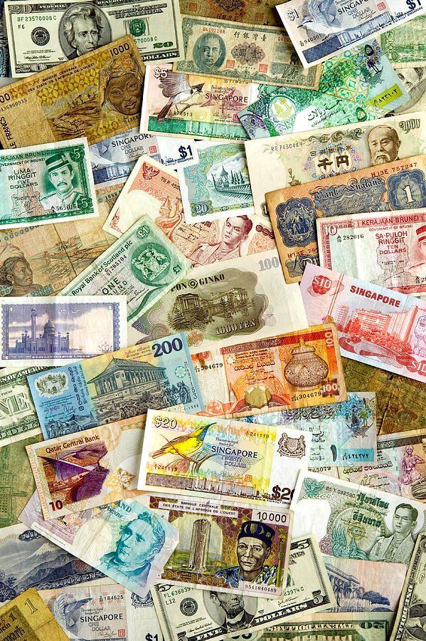International Currencies Photograph  - International Currencies Fine Art Print