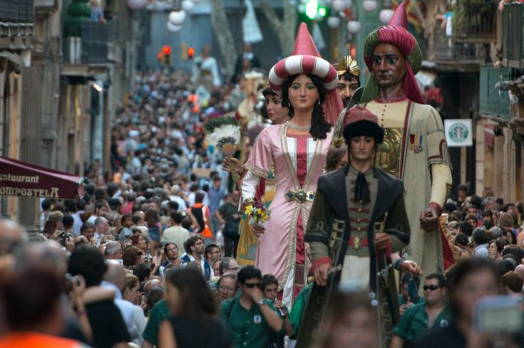 Festes de la Mercè: join the Catalan party as Barcelona is overrun with giants, devils and human pyramids    Read more: http://www.lonelyplanet.com/spain/travel-tips-and-articles/77332#ixzz3Aj0ft8F5