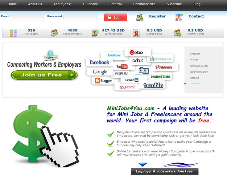 MiniJobs4You.com - We just reached 4000 members and therefore we made a limited special offer.