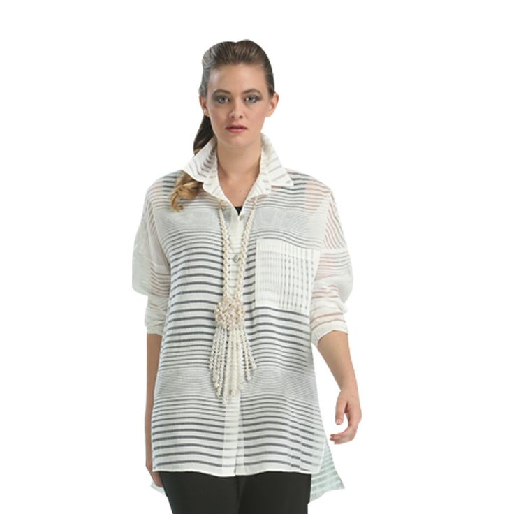 IC Collection Semi Sheer White Blouse 1569B