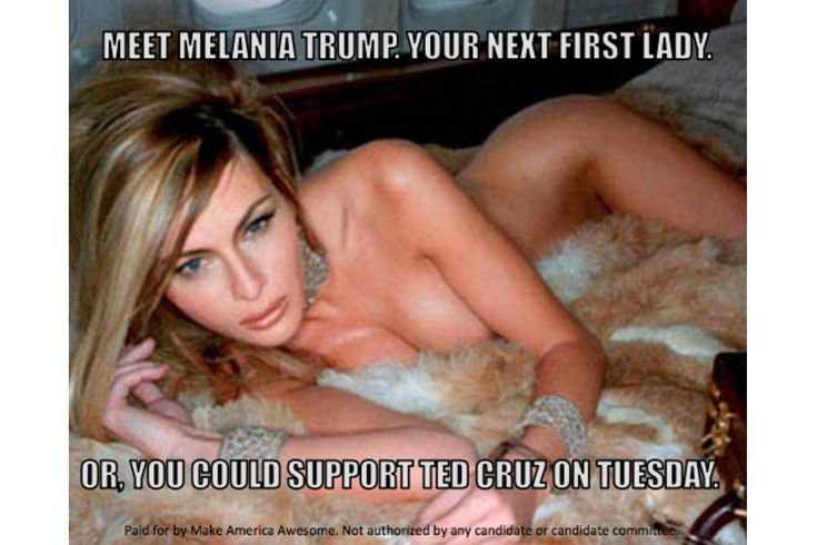 Our photo shoot with Melania Trump from January 2000, when Melania was Donald's girlfriend, is being used by his political opponents to attack him