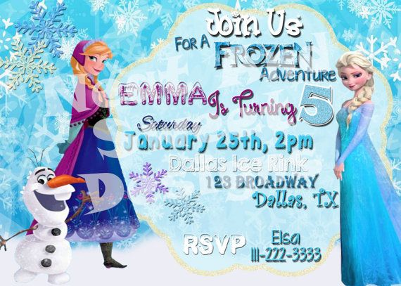Beautiful Disney Themed Party Invitations Gallery Elsa And Anna