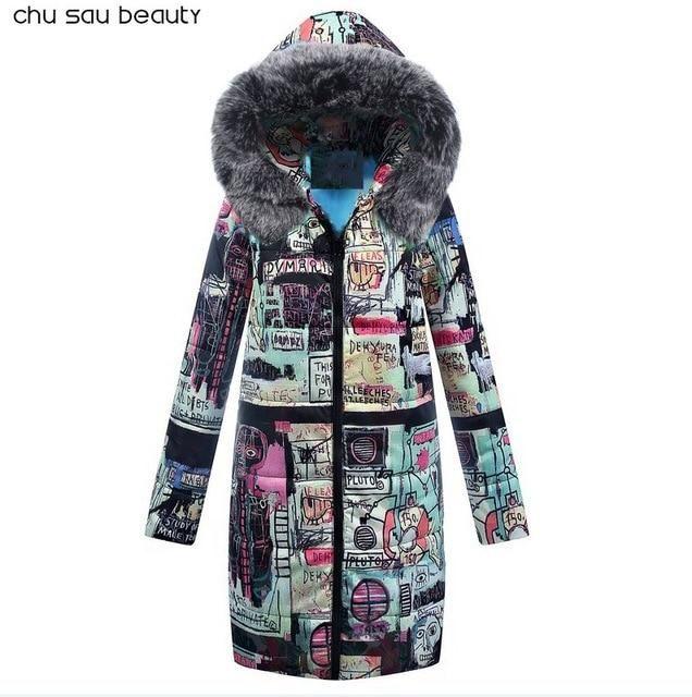2018 Women Cotton Winter Jacket Long Parka Thick Cotton Padded Lining Winter Coat Ladies Women Plus Size Parkas Black XL