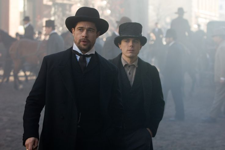 "Brad Pitt and Casey Affleck as the title characters in ""The Assassination of Jesse James by the Coward Robert Ford"" (2007)"