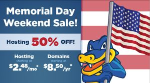 Hostgator Memorial Day Sale