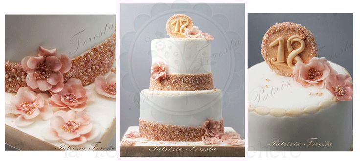 Torta con perle e fiori - Pearls and flower cake