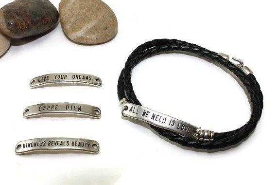 Leather bracelet  braided leather wrap bracelet  by LuckyBeadsBox