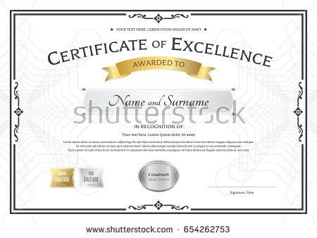 125 best Certificate template images on Pinterest Certificate - award of excellence certificate template