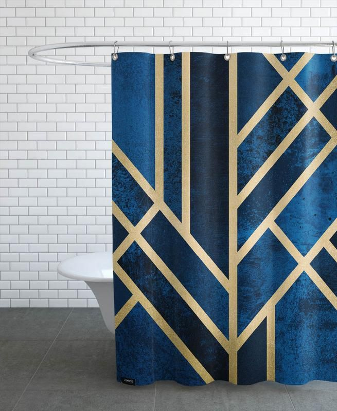 Art Deco Midnight en Rideau de douche par Elisabeth Fredriksson   JUNIQE