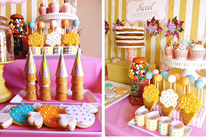 ice cream party: Accessories Parties, Sweet Shoppe, Ice Cream Parties, Sweet Parties, Summer Parties, Sweet Treats,  Candy Stores, Parties Desserts, Parties Accessories