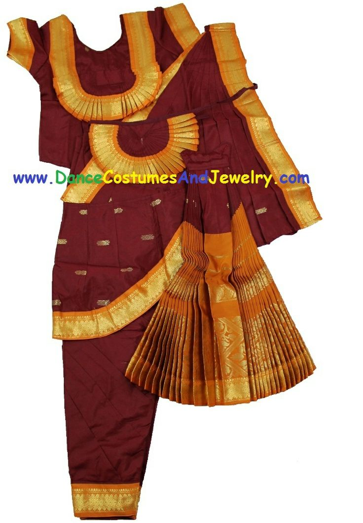 how to wear bharatanatyam dress with saree
