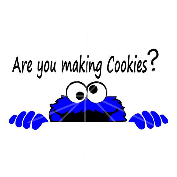 SVG - Cookie Monster Are you Making Cookies - Digital Vector File Adorable Design for a Kitchen Aide Decal or a wonderful Kitchen Sign! Love the Whimsy!  This Listing includes: 1 SVG and 1 PNG  For use with Cricut Explore machines and Silhouette With this purchase, you will receive a Zip File folder containing these images in SVG, and PNG form.  Perfect for vinyl projects, Kitchen Aide Decal, Kitchen Sign, Apron... and so much more!  NOTE: Make sure your Software is SVG Compatible…