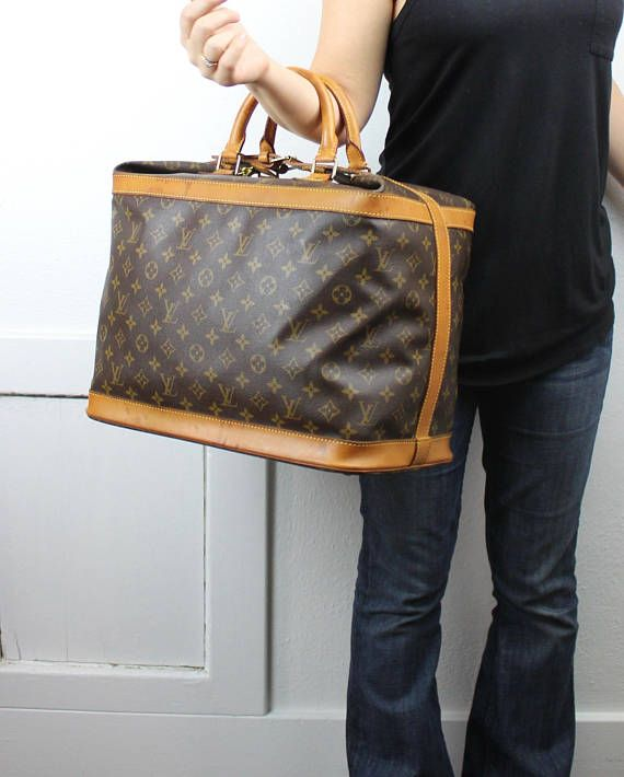 Vintage Louis Vuitton Cruiser 40 Monogram Canvas Weekender Luggage ... 1c72cf71409ed