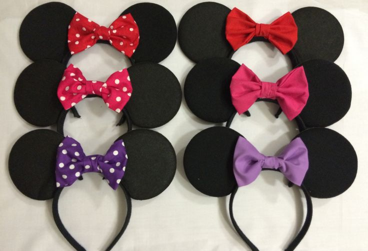 Minnie Mouse inspired ears! (any colour bow available to match your outfit)