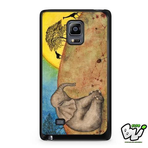 Elephant Giraffe Tree Samsung Galaxy Note Edge Case