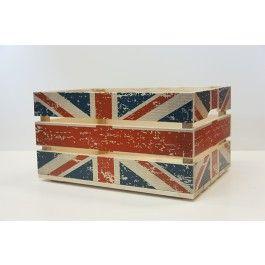 Leuk fietskratje met de Britse vlag, #Love #England #nritish #flag # cradle #crate