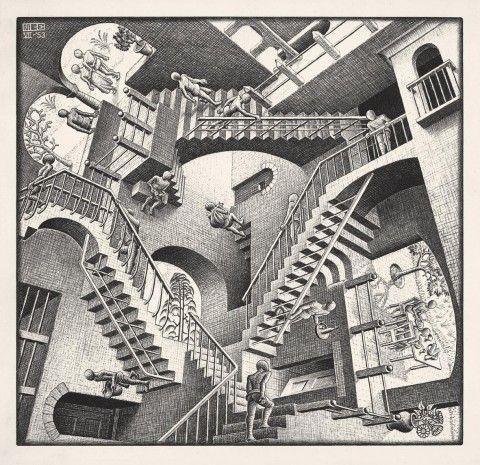 Palazzo Magnani, Reggio Emilia – fino al 23 marzo 2014. Mondi in tre dimensioni, fatti di salite che sono discese e pavimenti che sono anche...