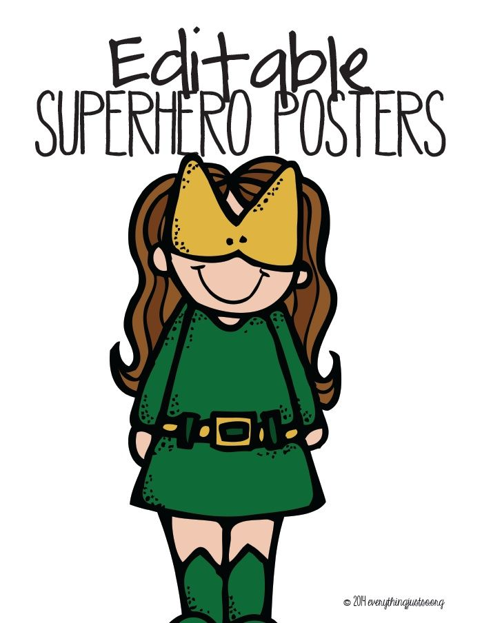 """Use these templates to make all sorts of forms: - list new ways to be a """"superhero"""" - classroom rules - inspirational quotes - notebook and binder inserts - center directions - small group materials - workshop materials  - incentive calendars - goal charts - word wall toppers - student notes  Four separate files included.  everythingjustso.org"""