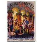 14 in. x 19 in. Savoy Hotel St. Moritz Canvas Art